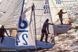 J/24s sailing off Argentina on Rio de la Plata