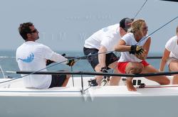 J/70 sailors at CanAm Challenge