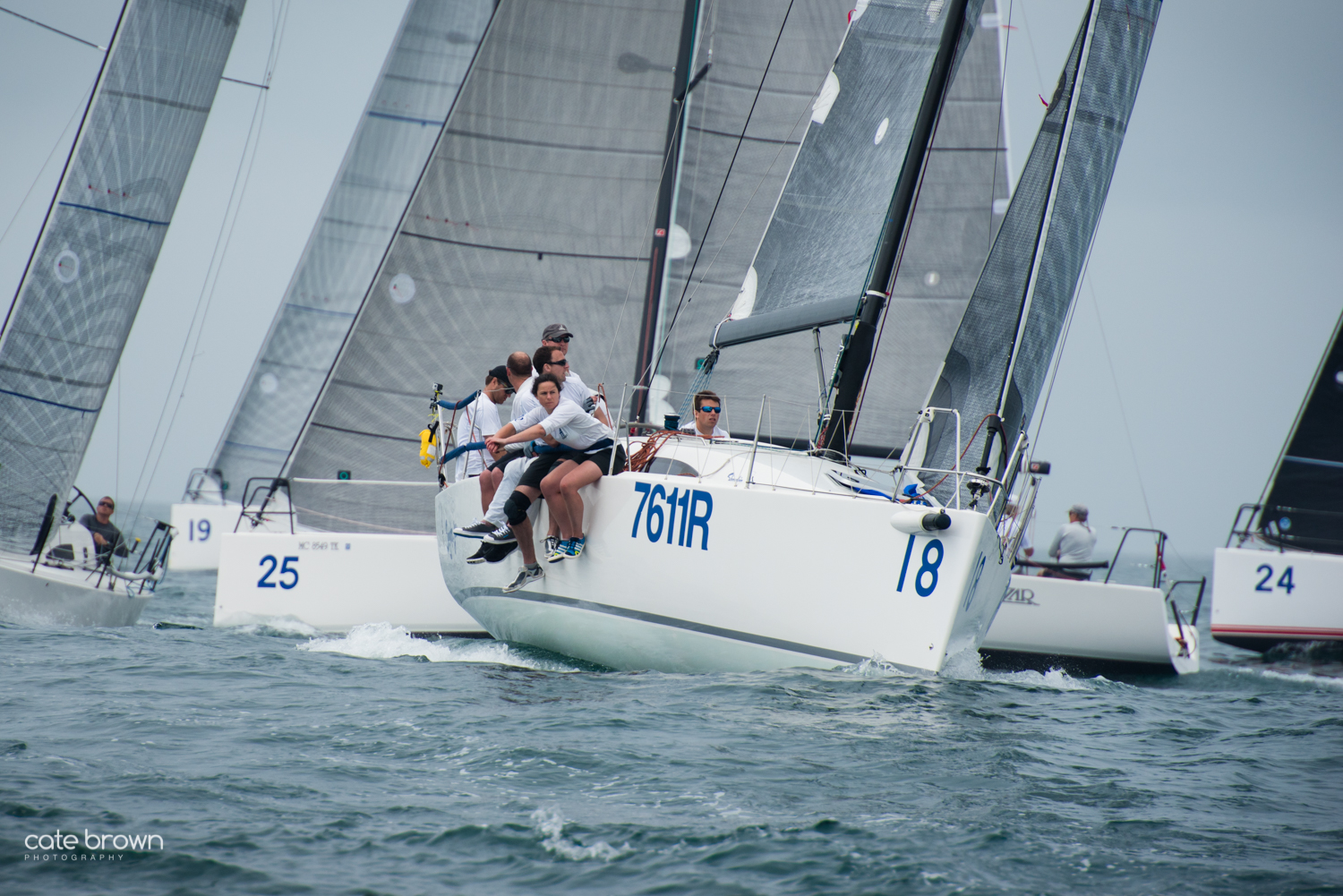 J111s rounding mark- J/111 Worlds off Newport, RI