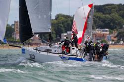 J/111 sailing Cowes Week