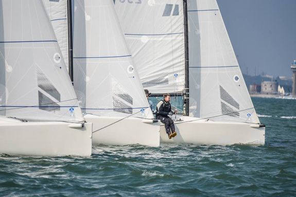 J/70s sailing Warsash Spring Series
