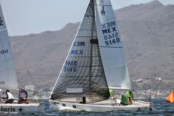 J/24s sailing in Mexico Nationals