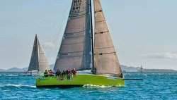 J/111 sailing Auckland to Fiji race finish