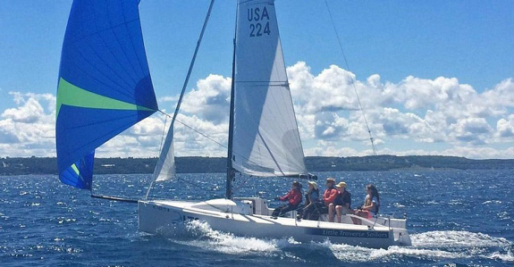 J/70 youth sailors in Michigan