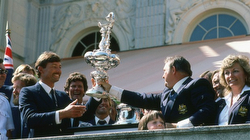 Bondi, John Bertrand and Skip Lissiman winning America's Cup