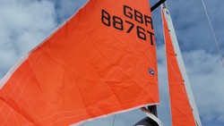 J/105 orange storm sails for Rolex Fastnet Race
