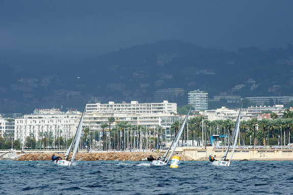 J/70s sailing off Cannes, France