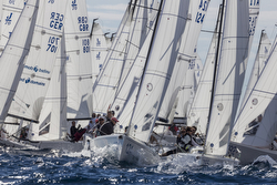 J/70 sailing- start off YC Monaco