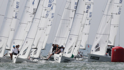 J/70 Europeans- sailing off Hamble, England