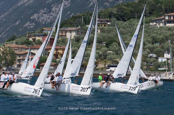 J/70's sailing Lake Garda, Italy