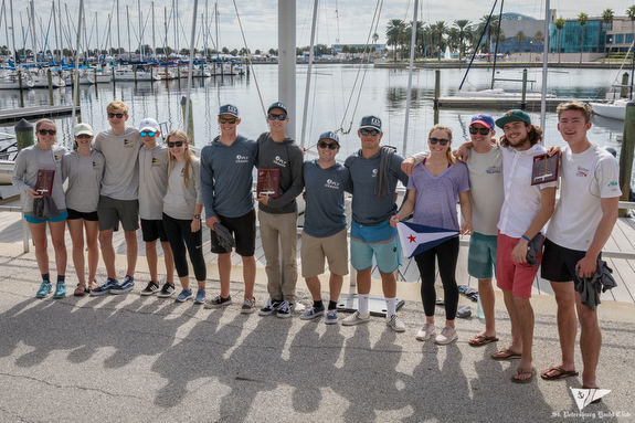 U.S. J/70 Youths podium- King Harbor, Little Traverse, Chicago