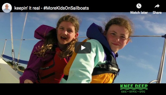 J/34 Knee Deep kids and family sailing video