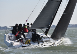 J/88 sailing upwind at Warsash Spring Series