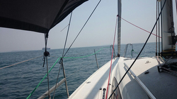 J/122E sailing off India's coastline on a cruise- Mumbai to Goa