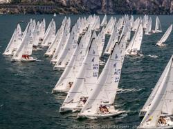 J/70 sailing off start- Lake Garda, Italy