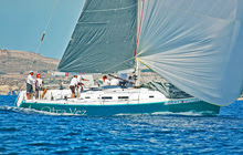 J/122 Otra Vez sailing Rolex Middle Sea Race