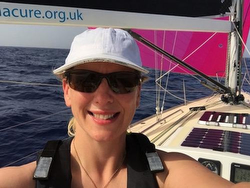 Elin Haf Davies- sailing J/120 Nunatak in RORC Transatlantic race