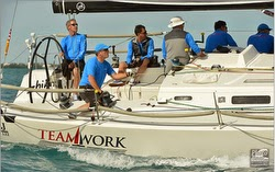 J/122 sailing Key West- Team work!