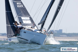 J/112E sailing upwind of The Hague, Netherlands