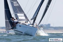 J/112E sailing upwind of The Hague, Netherlands