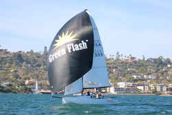 Green Flash beer- J/70 sponsor at San Diego Hot Rum series