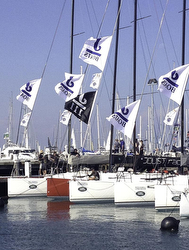 J/111 fleet at Geelong Festival of Sails- Australia