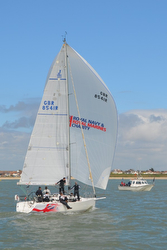 J/109 sailing Solent- Warsash Spring Series