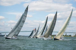 Ida Lewis Distance race start off Newport, RI