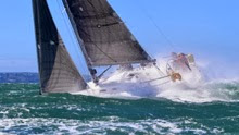 J/109 sailboat- sailing on Irish Sea