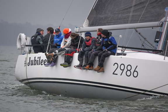 J/109 Jubilee wins first race- Warsash Spring series