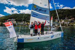 J/70 Austrian team winning St Moritz
