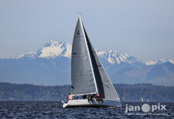 sailing off Seattle on Puget Sound