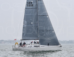 J/111 sailing Warsash series on Solent