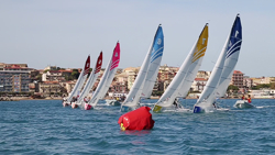 J/70s sailing Italian league