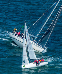 J/70s sailing Big Boat Series