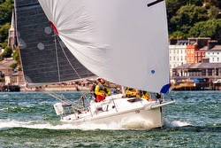 J/105 sailing off Cork Harbour, Ireland