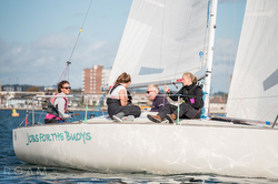 J/24 women's sailors- Magenta Project