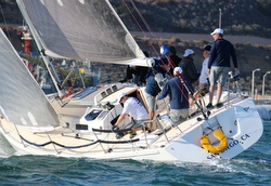 J/120s sailing San Diego Hot Rum Series