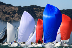 J/70s sailing fast at Worlds in San Francisco