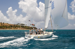 J/105 sailing in Caribbean