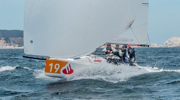 J/70 sailing off Chile