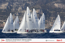 j70 sailing off Monaco