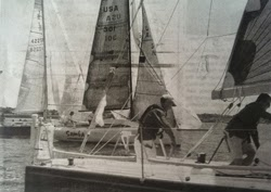J/35 sailing Newport Solo/ Twin