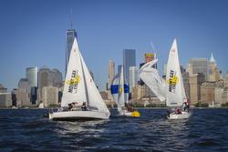 J/24s sailing- Freedom Tower- New York, NY