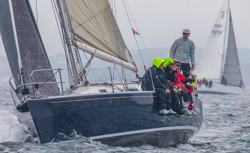 J/105 sailing American YC Fall Series