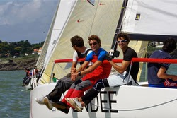 J/80 sailors at Pornic Cup in France