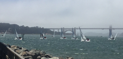 J/70s sailing San Francisco Bay- Pacific Coast Championship