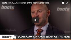Ian Walker winning RYA Yachtsman of Year award