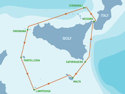 Rolex Middle Sea Race course