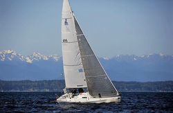 J/105 sailing off Seattle, WA